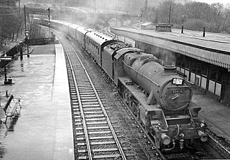 Dore and Totley railway station - The station in 1960