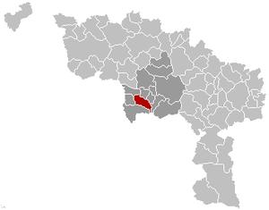 Dour - Image: Dour Hainaut Belgium Map