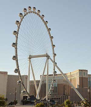 Ferris wheel - High Roller, in Las Vegas, Nevada, world's tallest Ferris wheel since 2014