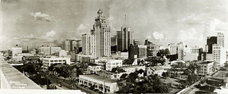 Texas oil boom - Downtown Houston in 1927