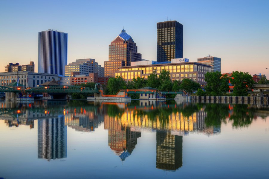 Downtown Rochester, NY HDR by patrickashley