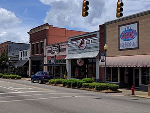 Troy, Alabama - View of the western side of the downtown square in Troy