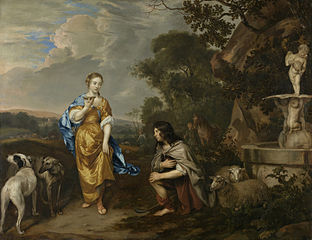 Double portrait of a young couple as Granida and Daiphilo