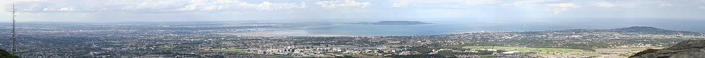 Panorama vido al Dublino.