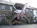 Dulverton , Union Jacks and Active Exmoor Sign on Building - geograph.org.uk - 1493935.jpg