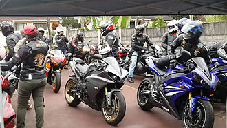 Motorcycle club - A club meet in Durban, South Africa