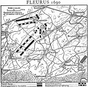 Battle of Fleurus (1690) - Battle of Fleurus 1690, from 1911 Encyclopædia Britannica,