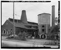 EXTERIOR VIEW WITH SILO - Baily Glass Works, Morgantown, Monongalia County, WV HAER WVA,31-MORTN,1-2.tif
