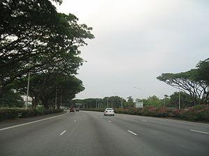 East Coast Parkway - East Coast Parkway eastbound towards Singapore Changi Airport, before Benjamin Sheares Bridge.