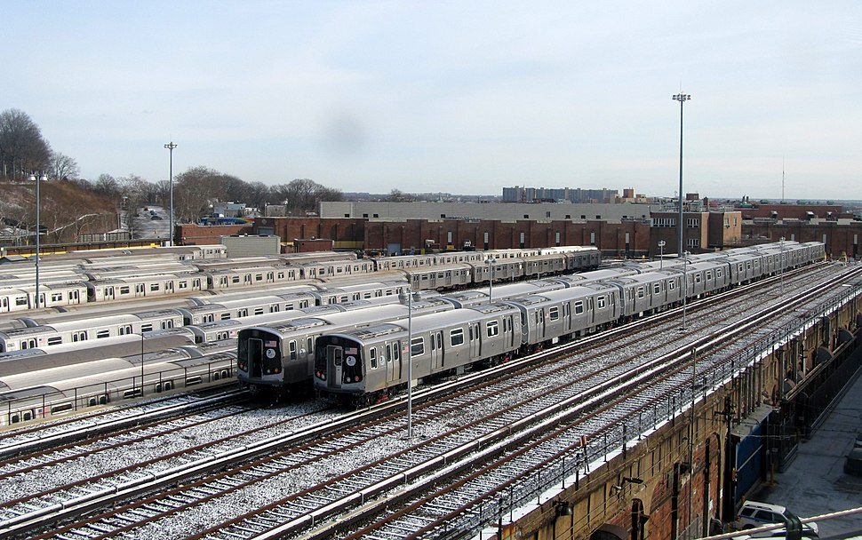 East New York Yard from Broadway Junction, December 2017