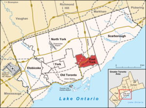 East York - Image: East York locator