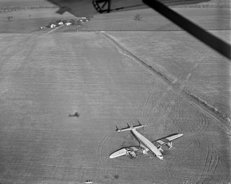 Belly landing - In 1951, Eastern Airlines Flight 601 operated by a Lockheed L-749 Constellation performed a successful belly landing at Curles Neck Farm in Virginia during a storm.