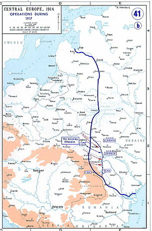 The situation on the Eastern Front in 1917