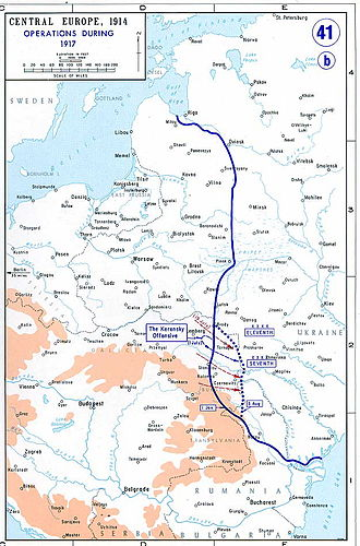 Ukrainian War of Independence - Eastern Front of World War I in 1917