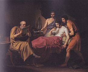 Alexander den Store på sygelejet