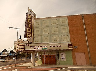 Odessa, Texas - The 700-seat Ector Theatre at 500 N. Texas Ave. in Odessa opened in 1951. Now closed for regular films, it still hosts occasional community events, performing arts, and musical expositions.