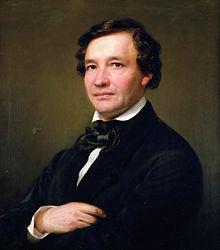 Wilhelm Taubert, porträtiert von Eduard Magnus, 1862 (Quelle: Wikimedia)