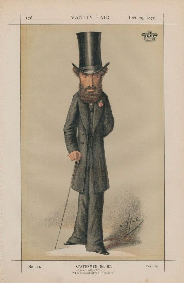 Edward Bulwer-Lytton Vanity Fair 29 October 1870