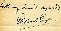 Elgar's signature