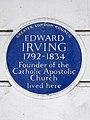 Edward Irving 1792-1834 founder of the Catholic Apostolic Church lived here.jpg