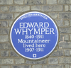 Edward Whymper blue plaque, Teddington cropped.png