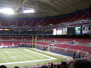The Dome at America's Center - Interior view prior to 2010 renovations