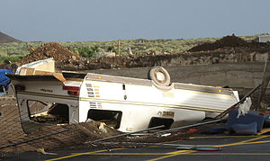 Tropical Storm Delta (2005) - Storm damage from Delta on Tenerife