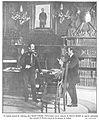 El capitán general de Valencia, Don Ramón Echagüe, conversando con el redactor de Nuevo Mundo en aquella población, Don Antonio de Merás, acerca de los sucesos de Cullera, de Gómez Durán, Nuevo Mundo, 09-11-1911.jpg