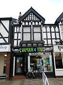 Vape shop in Northwich, Cheshire, England.