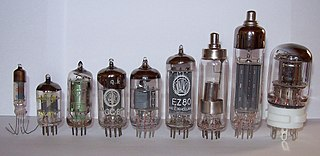 Vacuum tube Device that controls electric current between electrodes in an evacuated container