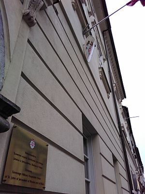 Foreign relations of the Sovereign Military Order of Malta - Embassy of the Sovereign Military Order of Malta in Ljubljana, Slovenia