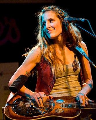 Emily Robison - Strayer playing dobro, 2010
