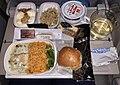 Emirates Economy class in-flight dinner meal Dubai to Brisbane, 2019.jpg
