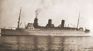 RMS Empress of Japan in original appearance.