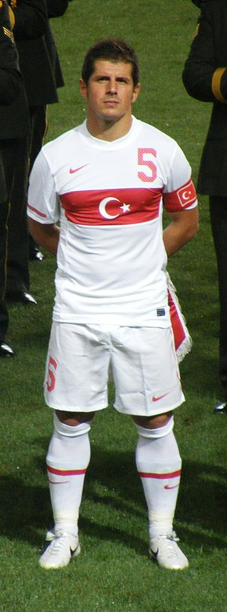 Emre Belözoğlu - Belözoğlu captaining Turkey in 2010