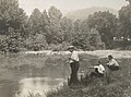 Enemy Activities- Miscellaneous- Internment camp for Germans. Hot Springs, North Carolina- river forms the western boundary of the camp affording the German fishermen an opportunity to try their lucky - NARA - 31479801 (cropped).jpg