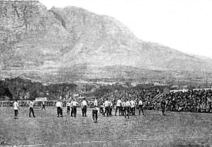 South Africa national rugby union team - 1891 British Isles versus Cape Colony match—the first match of the British Isles tour of South Africa.