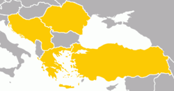 Members of the Balkan Pact Balkan Pact: * Greece * Turkey * Romania * Yugoslavia