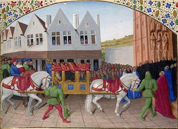 Entrée de l empereur Charles IV à Saint-Denis