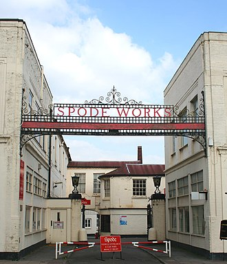 Spode - Entrance to Spode Pottery Works, Stoke