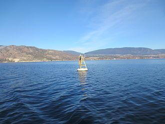 Water Survey of Canada - Environment Canada Lake Evaporation Monitoring Buoy in Lake Okanagan