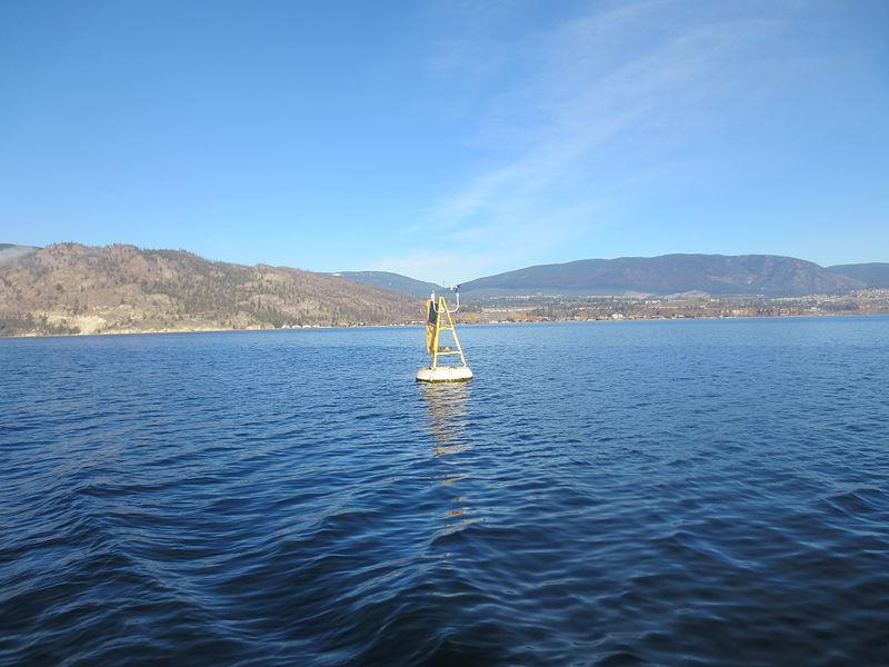 File:Environment Canada Lake Evaporation Monitoring Buoy in Lake Okanagan.JPG