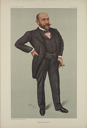 Ernest Cassel - Cassel caricatured by Spy for Vanity Fair, 1899