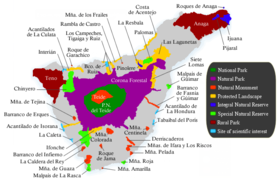 0270fadd Map showing the classification of protected areas in Tenerife