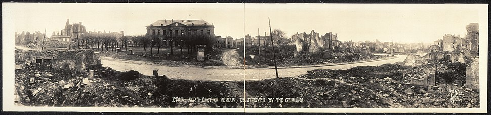 Etain northeast of Verdun destroyed by the Germans