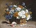 Eugène Henri Cauchois - White and blue cornflowers.jpg