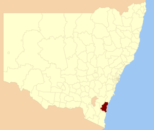 Eurobodalla Shire - Location in New South Wales