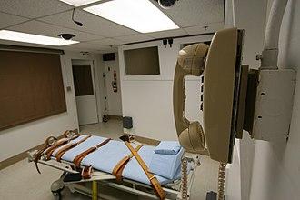 Capital punishment in the United States - The lethal injection room in Florida State Prison.