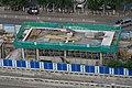 Exit G of Yongdingmenwai Station under construction (20180809164043).jpg