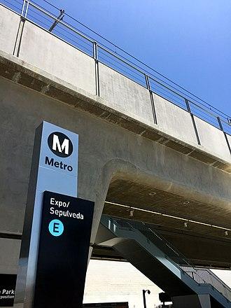 Expo/Sepulveda station - Image: Expo Sepulveda July 2017a